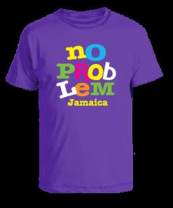 kids purple printed t-shirt