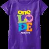 girl's purple printed t-shirt