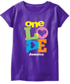 girl's purple printed t-shirt