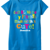 turquoise girls printed cotton t-shirt