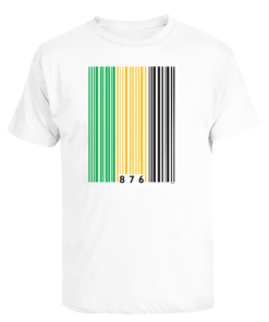 Men's 'Out of Many'white printed t-shirt